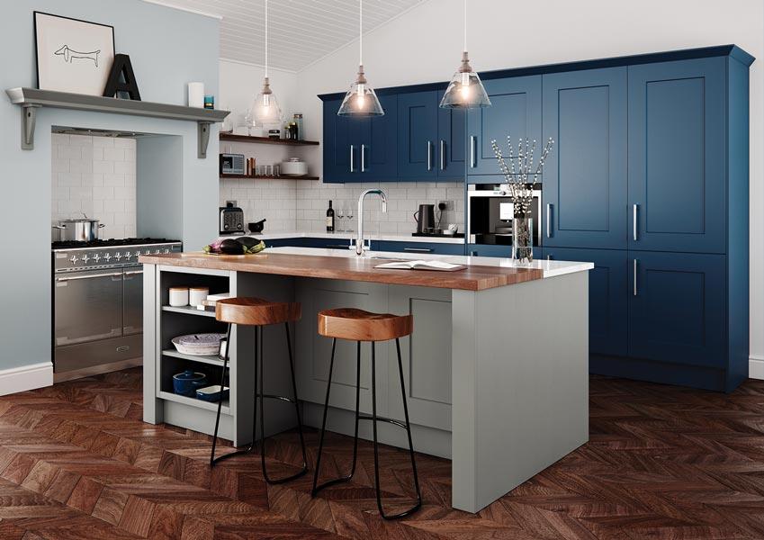 Clonmel Shaker Kitchen Stone Parisian Blue