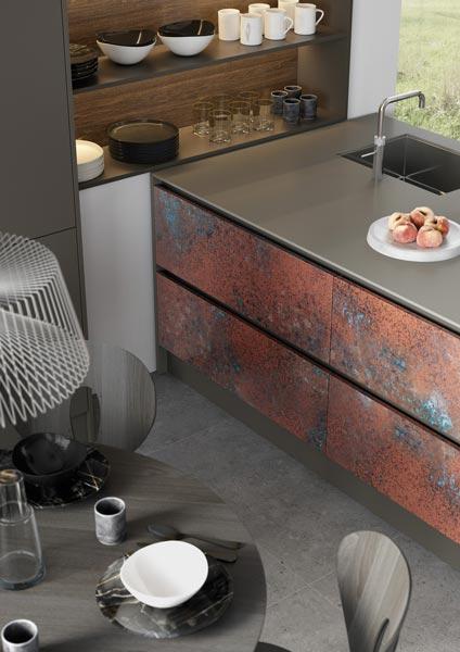 Ferro Oxidized Copper and Rezana Espresso Oak