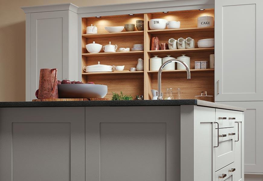 Georgia Painted Light Grey Kitchen