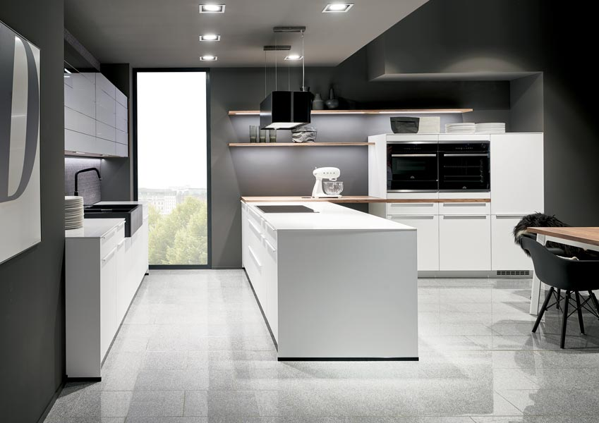 Bar Handle Style Contemporary Kitchen